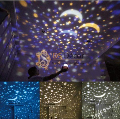 Quà tặng đèn ngủ tạo không gian 3D DPS1 mô hình trăng sao