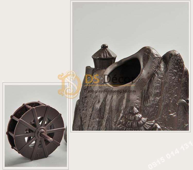 Tượng núi đá bánh xe nước DTT03-01