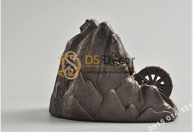 Tượng núi đá bánh xe nước DTT03-02