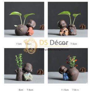 Tượng nhà sư nhỏ dễ thương DTT04-01