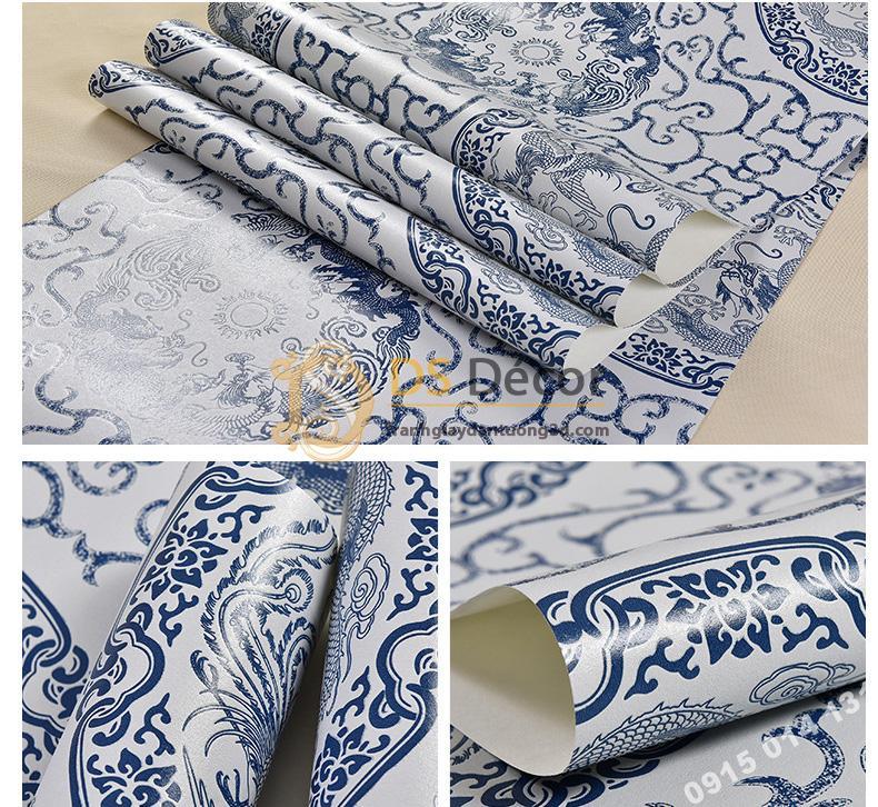 Be-mat-Giay-dan-tuong-hoa-tiet-totem-hoai-co-3D222-mau-xanh