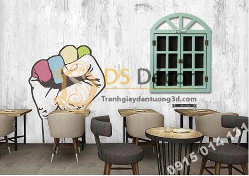 Cửa sổ gỗ trang trí quán cafe trà sữa CS01
