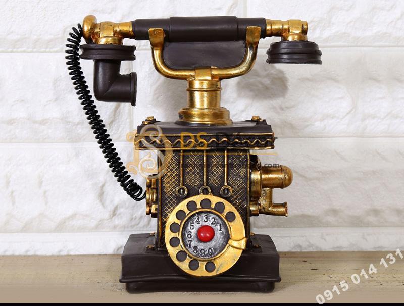 Điện thoại cổ trang trí quán cafe màu đen DC01