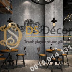 Giấy dán tường giả bê tông xi măng 3D217 màu ghi xám