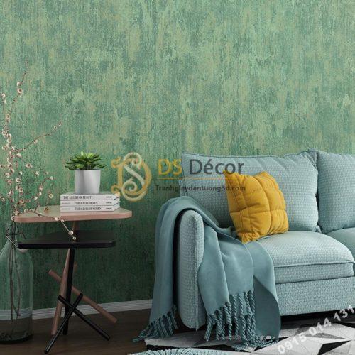 Giấy dán tường giả bê tông xi măng 3D217 màu xanh