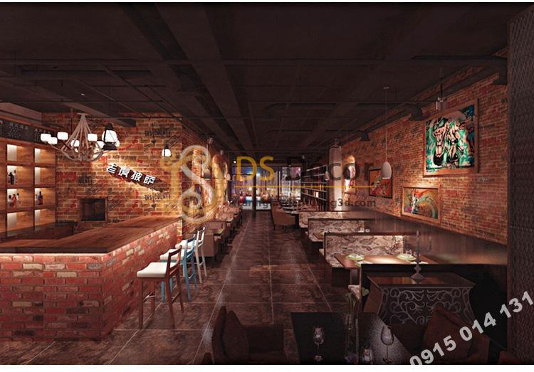 Giấy dán tường giả gạch graffiti hip hop 3D216 màu đỏ trang trí quán ăn