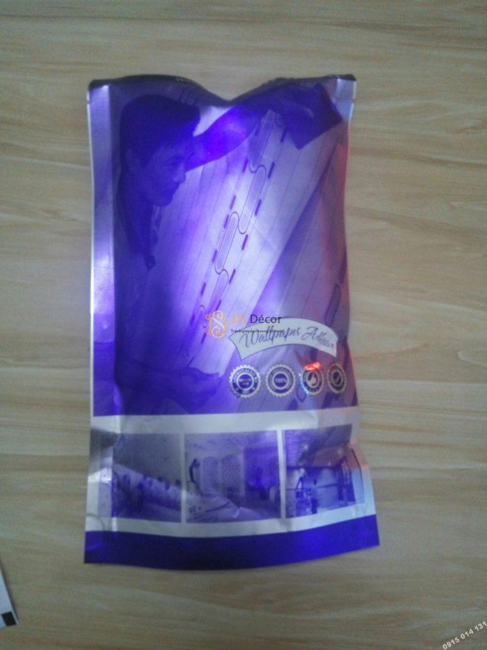 Mặt trước túi keo dán giấy dán tường dạng bột