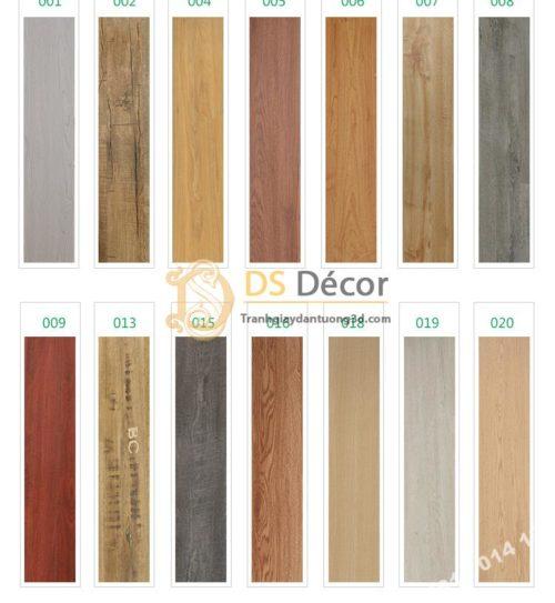 Các màu của Sàn nhựa giả gỗ PVC chống thấm mài mòn SG1