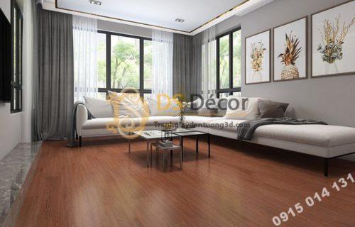 Sàn nhựa giả gỗ PVC chống thấm mài mòn SG1 màu nâu cafe