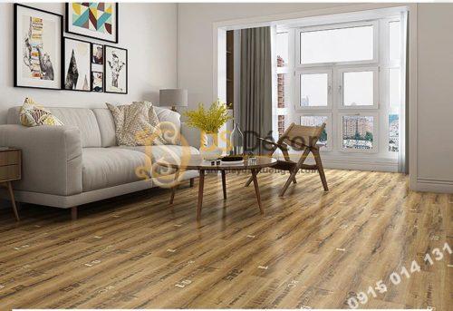 Sàn nhựa giả gỗ PVC chống thấm mài mòn SG1 màu nâu có số