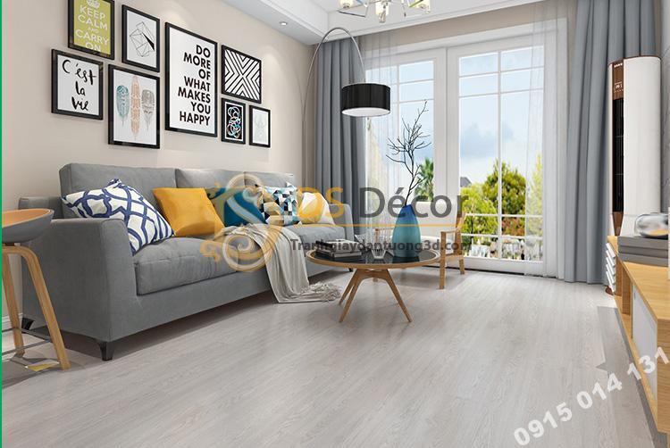 Sàn nhựa giả gỗ PVC chống thấm mài mòn SG1 màu xám