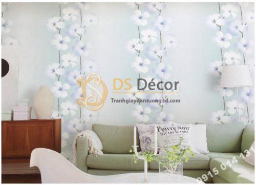 Giấy dán tường hoa cát đằng 3D235 trang trí phòng khách