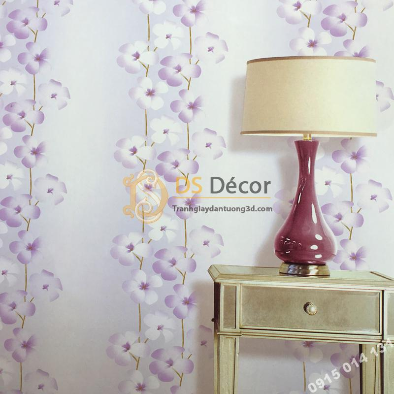 Giấy dán tường hoa cát đằng 3D235 trang trí phòng ngủ