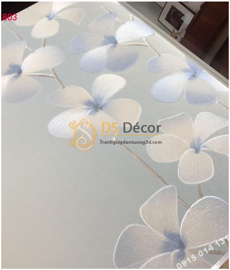 Giay dan tuong hoa cat dang xanh 3D235