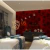 Giay-dan-tuong-hoa-hong-3D232 màu đỏ spa