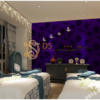 Giay-dan-tuong-hoa-hong-3D232 màu tím spa