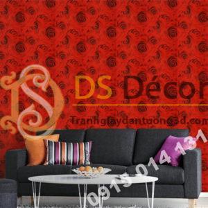 Giấy dán tường hoa hồng 3D232