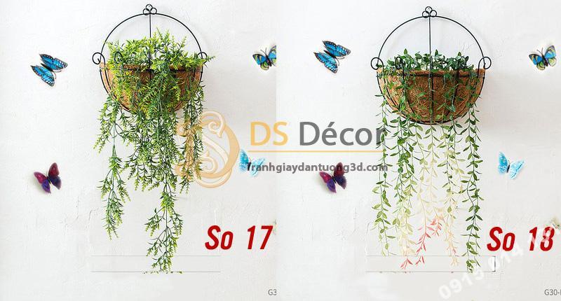 Lẵng hoa rơm trang trí quán cafe trà sữa DC04 - 06