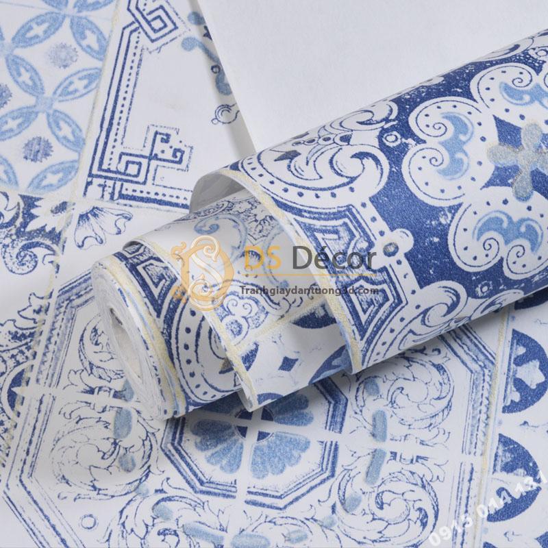 Mat-Giay-dan-tuong-gia-gach-bong-men-su-3D231-mau-xanh