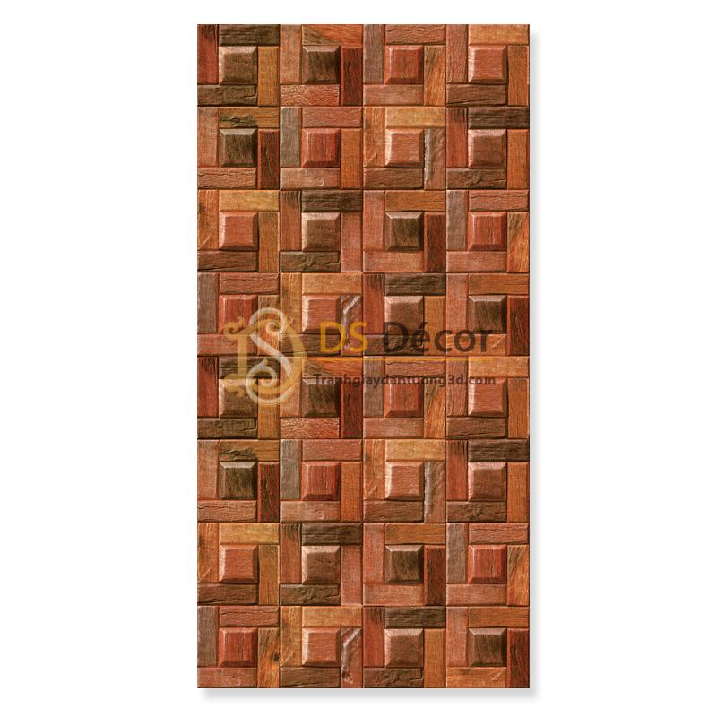 Mặt Giấy dán tường giả ụ gỗ nâu 3D234