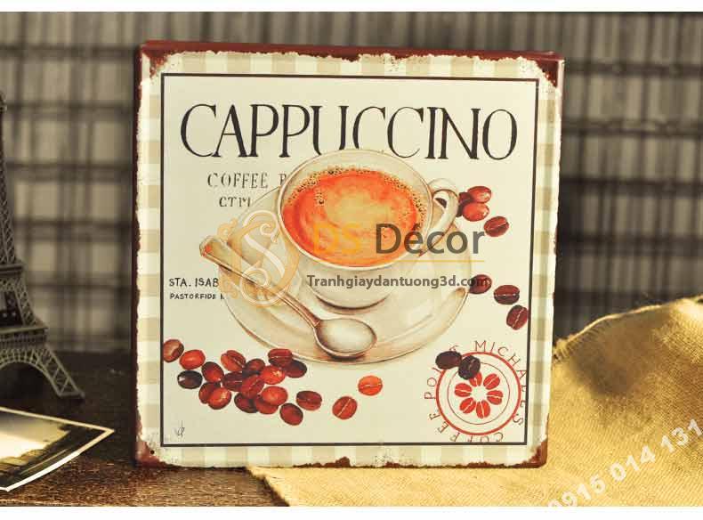 Tranh sat tro tuong trang tri quan cafe DC05 cappuccino