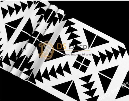 Be mat Giấy dán tường trắng đen đối xứng 3D255