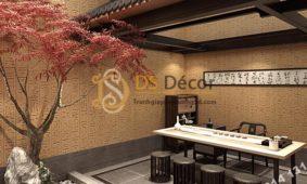Giấy dán tường họa tiết ai cập cổ đại 3D261 trang trí quán cafe