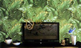 Đem thiên nhiên vào nhà cùng Giấy dán tường lá cây 3D
