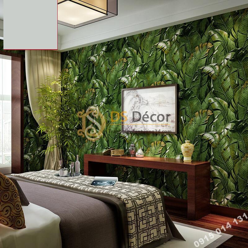 Giấy dán tường họa tiết lá chuối dân dã 3D262 dán phòng ngủ