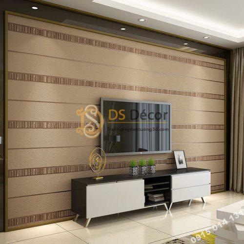 Giấy dán tường sọc ngang hiện đại 3D272 màu cafe