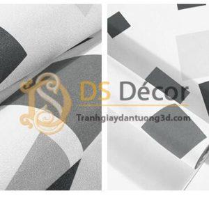Bề mặt Giấy dán tường ô vuông lộn xộn hiện đại 3D280