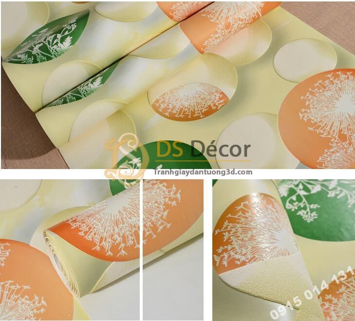 Bề mặt giấy dán tường họa tiết bóng bay 3D278 màu cam