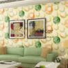 Giấy dán tường họa tiết bóng bay 3D278 màu cam phòng khách