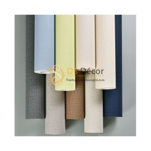 Giấy dán tường một màu giả vải 3D281