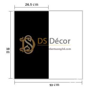 Size Giấy dán tường sọc trắng đen to 3D283