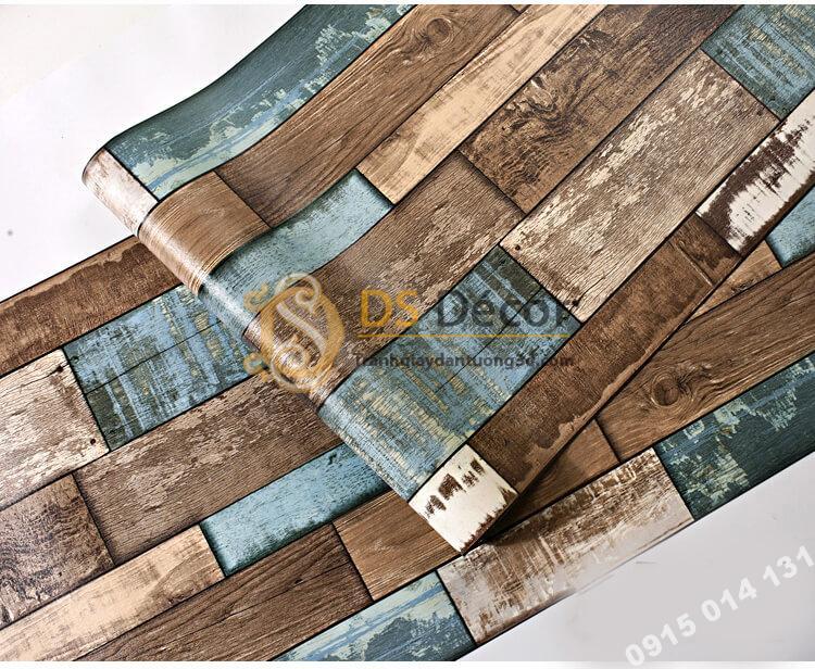 Bề mặt Giấy dán tường giả gỗ ván cổ vintage 3D290