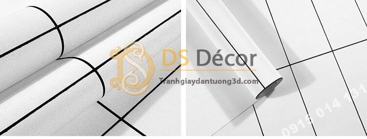 Bề mặt Giấy dán tường hình chữ nhật trắng đen hiện đại 3D292