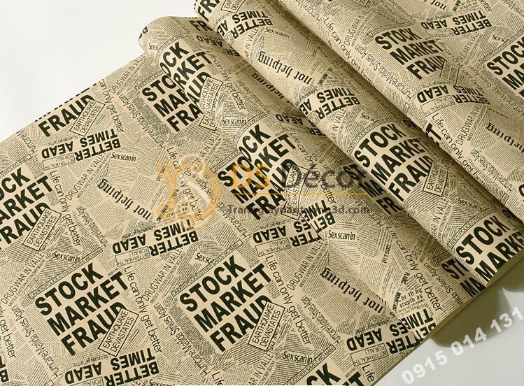 Bề mặt giấy dán tường giả báo 3D293 tông nâu