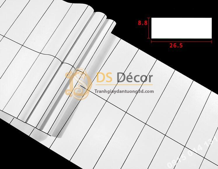 Kích thước họa tiết Giấy dán tường hình chữ nhật trắng đen hiện đại 3D292