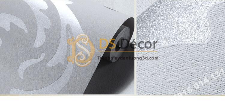Bề mặt Giấy dán tường hoa móc trắng cổ điển 3D299