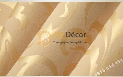 Bề mặt Giấy dán tường hoa móc vàng cổ điển 3D299