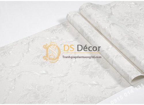 Bề mặt Giấy dán tường tân cổ điển 3D300 màu trắng