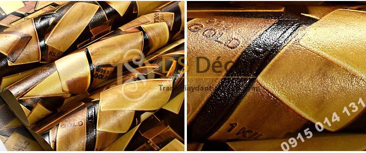 Bề mặt Giấy dán tường thỏi vàng cho tiệm vàng, quán karaoke 3D297