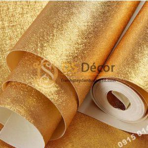 Giấy dán trần vàng óng sang trọng 3D298 vân tóc rối
