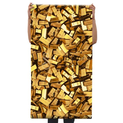 Họa tiết Giấy dán tường thỏi vàng cho tiệm vàng, quán karaoke 3D297