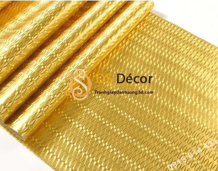 Giấy dán tường mạ vàng vân vòng khuyên nhỏ 3D298