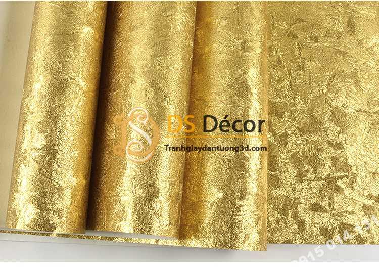 Giấy dán tường mạ vàng hoa văn vẩy kỳ lân 3D298
