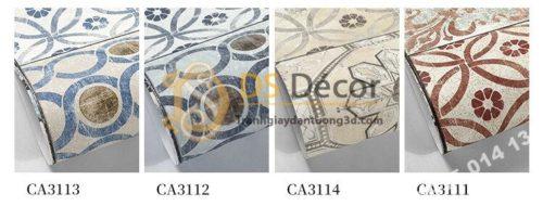 4 màu Giấy dán tường giả gạch bông 3D303