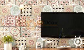 Top 25 mẫu giấy dán tường điểm nhấn mảng tường treo tivi