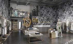 Giấy dán tường họa tiết khối đá 3 chiều 3D306 trang trí shop thời trang